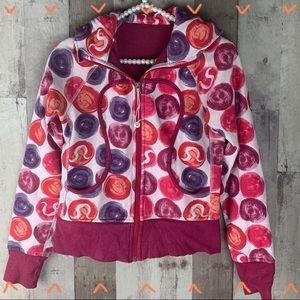 Lululemon polka dot scuba zip up hoodie size 2